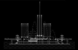 Dịch vụ thiết kế đài phun nước, nhạc nước nghệ thuật
