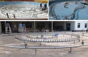Hệ thống lắp đặt thiết bị đài phun nước đường ống sus304
