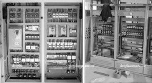 Hệ thống lắp đặt thiết bị đài phun nước tủ điều khiển